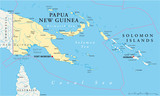 Papua New Guinea and Solomon Islands - Map