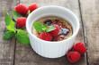 Crème Brûlée with Raspberries