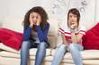 bored tired teenagers