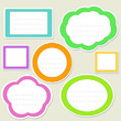 Set of striped paper speech bubbles