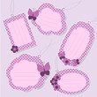 Set of cute purple tags