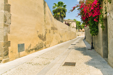 Sardegna, Campidano, via del borgo