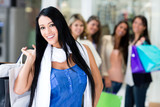 Woman shopping with friends