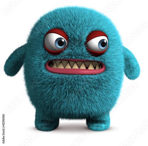cute furry monster - 42196960