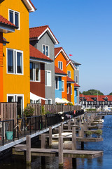 Colored houses near the water