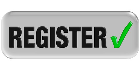 Button grau Haken REGISTER