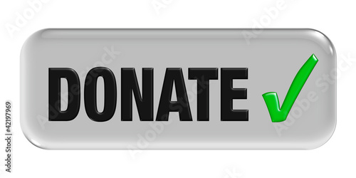 Button grau Haken DONATE