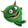 Leinwanddruck Bild - cute furry alien