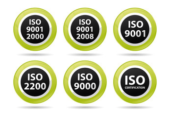 iso icons for different certifications