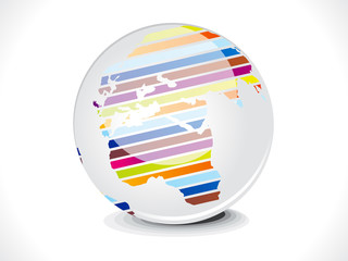 abstract glossy business globe