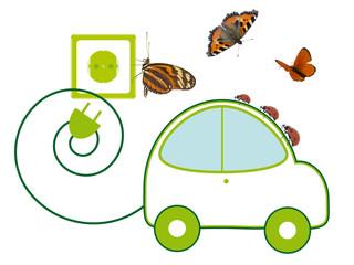 Umweltfreundliches E-Auto