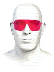 Blick durch Rosarote Brille
