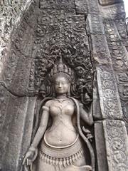 Devata of Bayon Temple - Angkor Thom, Cambodia