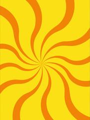 Yellow-Orange Vector background, circus waves