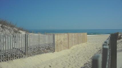 Sandy path to Atlantic Ocean beach