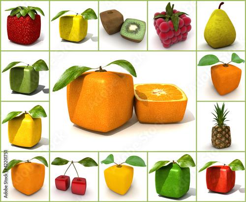 Original  fruit collage