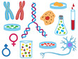 Illustration of biology icons