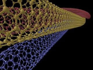 Rendered Image of Chiral Carbon Nanotube Twine