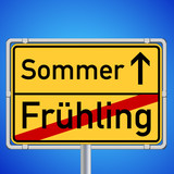 Schild - Jahreszeitenwechsel Frühling / Sommer