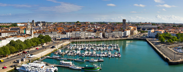 La Rochelle harbor - Panorama