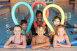 Children in swimming pool