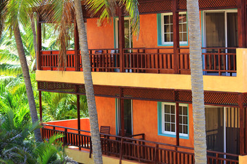 Tropical House with Balconies