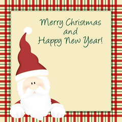 Merry Christmas and happy new year - santa claus