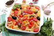 pasta fusilli peperoni pomodori olive