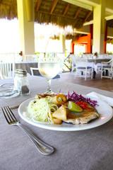 Creole Dish in Caribbean Gourmet Restaurant