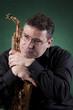 Musiker mit Saxophon