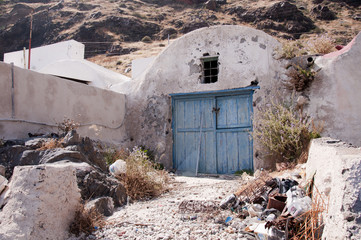 The Fishing Village of Therasia Santorini Greece