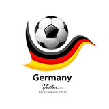 Football team germany, vector illustration