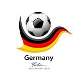 Football team germany, vector illustration poster