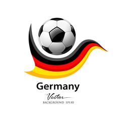 Football team germany, vector illustration