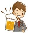 ビールで乾杯 ビジネスマン