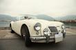 Classic sport white car