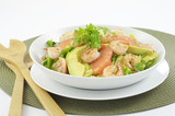 Prawn, grapefruit and avocado salad