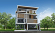 3d rendering, Exclusive tropical modern house