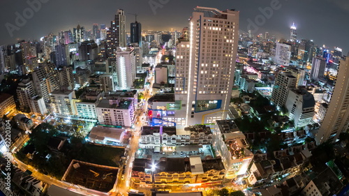 Bangkok City View time lapse (fisheye) in Thailand