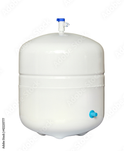 Water storage tank isolated on white background