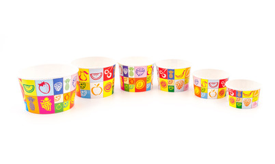 Colorufl design Ice cream paper cups