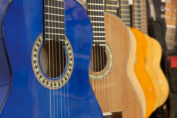 guitars in the store