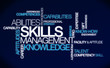 Skills management knowledge ability tag cloud illustration
