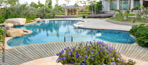 Leinwandbild Motiv luxury pool
