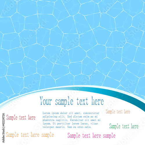 Abstract water background with a space for text