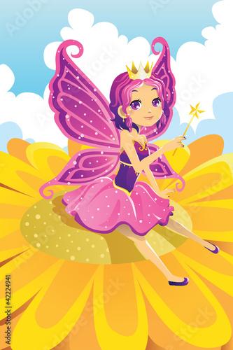 Foto op Aluminium Kasteel Fairy princess
