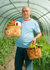 gardener with vegetables
