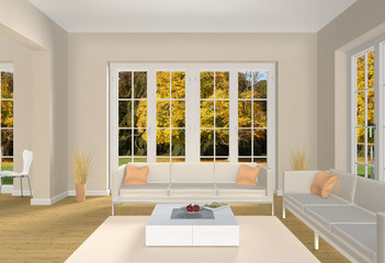 Interior Wohnzimmer Herbst