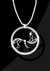 Dragonfly - jewelry with colors gemstones.