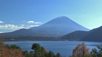 Autumn Landscape in Mt.Fuji and Motosu Lake,Yamanashi,Japan_9